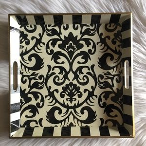 Hobby Lobby - Black/Cream/Gold Wood Tray